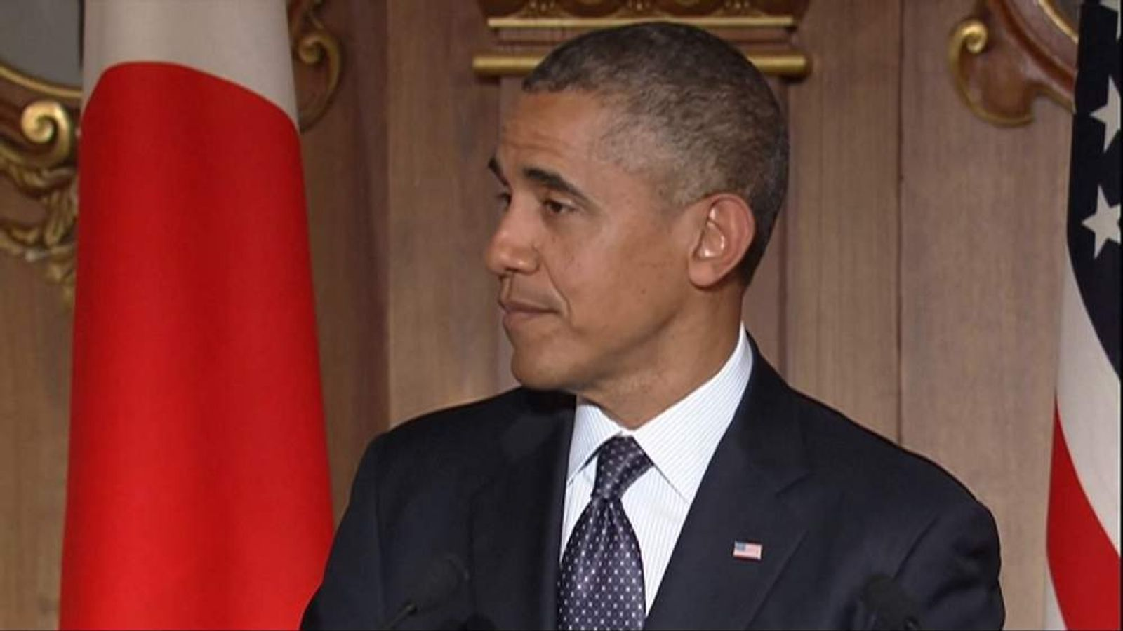 US President Barack Obama speaking in Tokyo