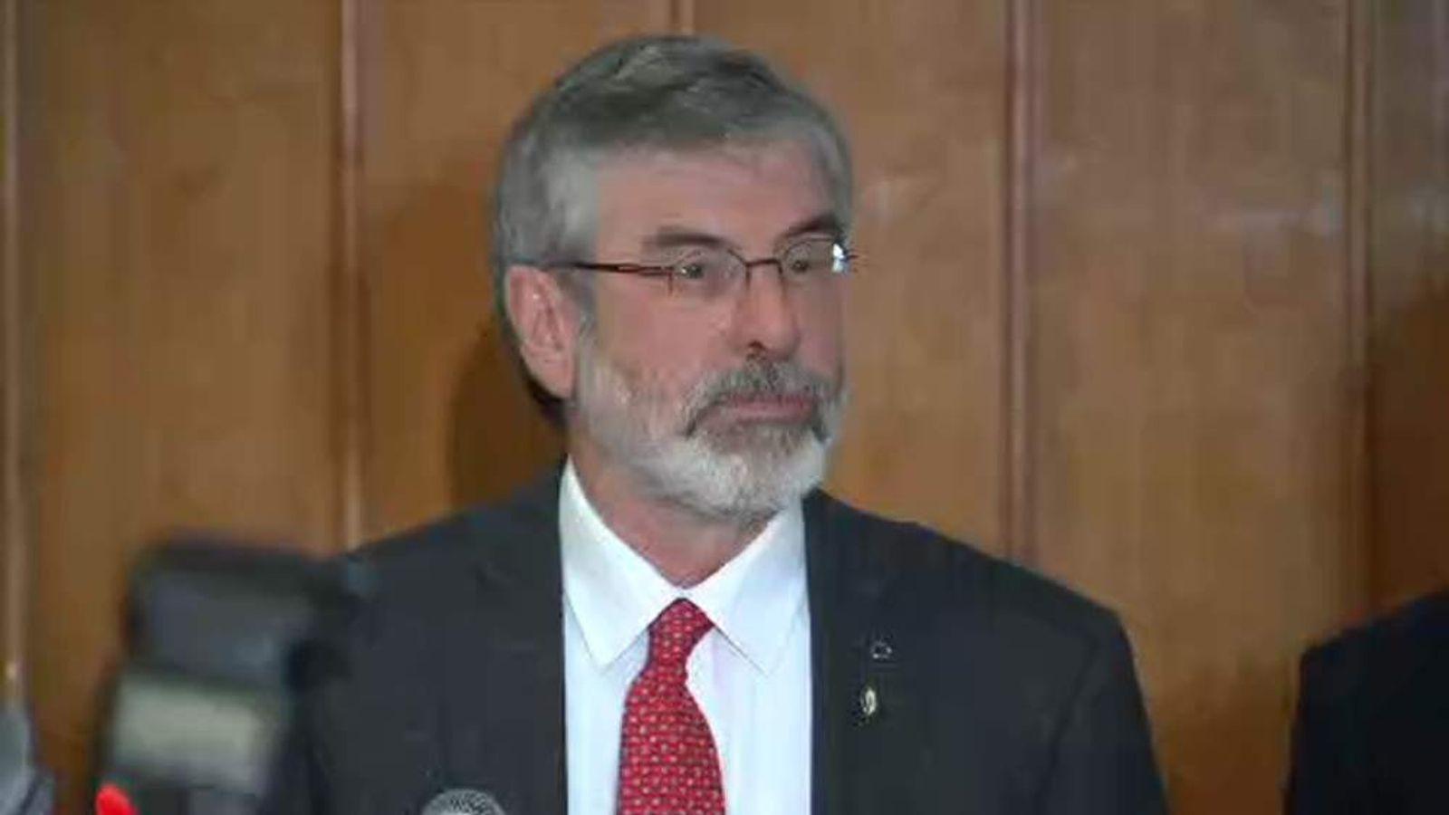 Sinn Fein President Gerry Adams released from custody