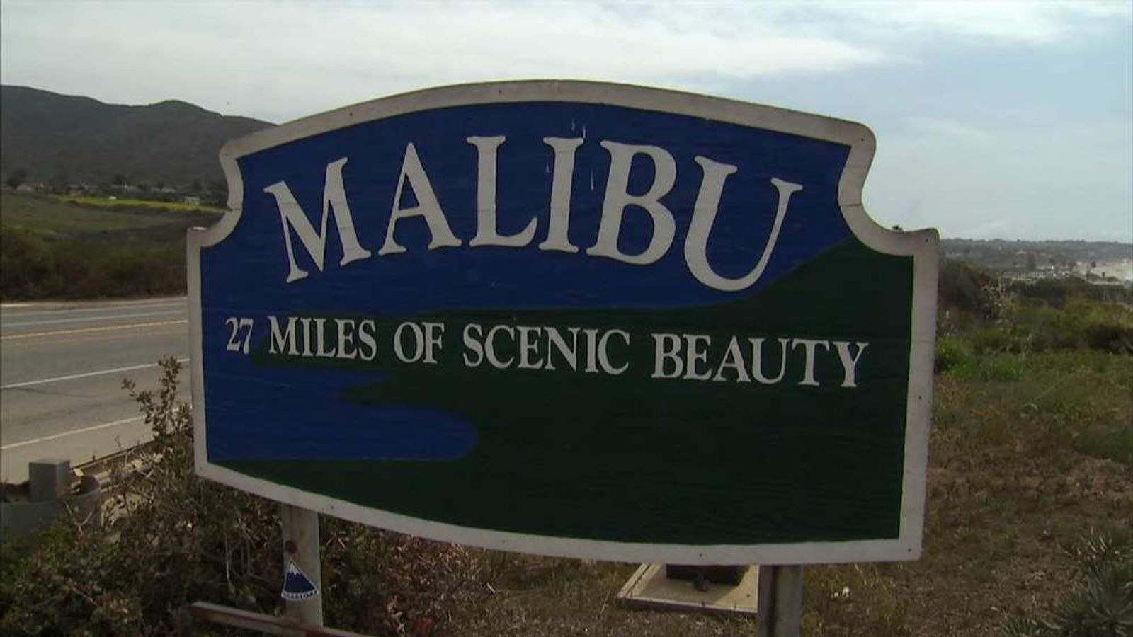 Broad Beach in Malibu, California.