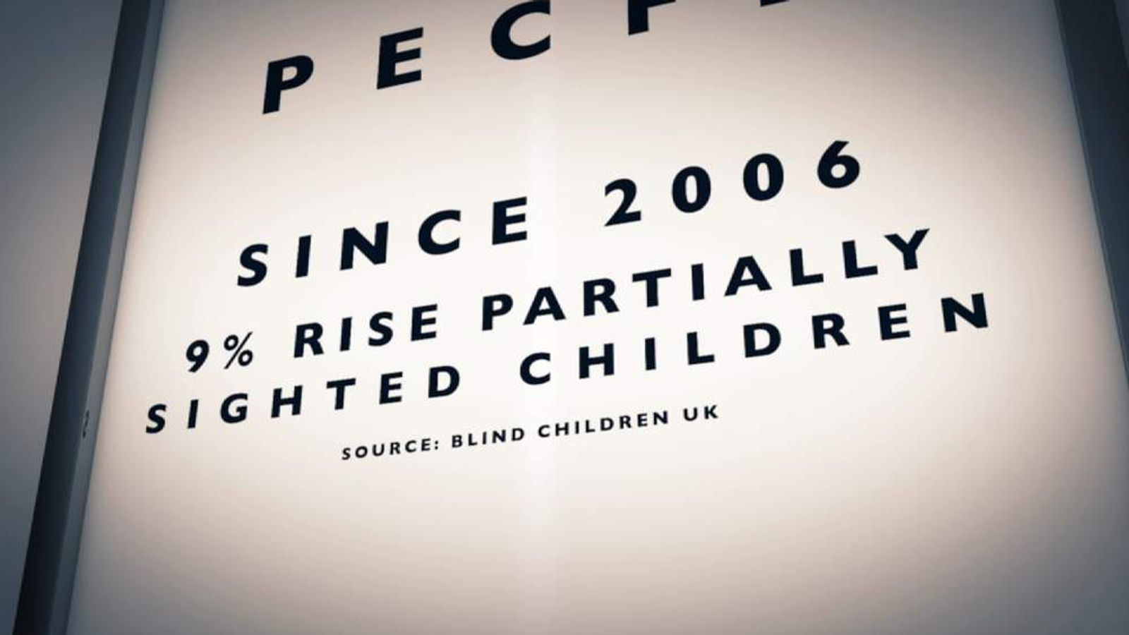 9% rise in partially sighted children