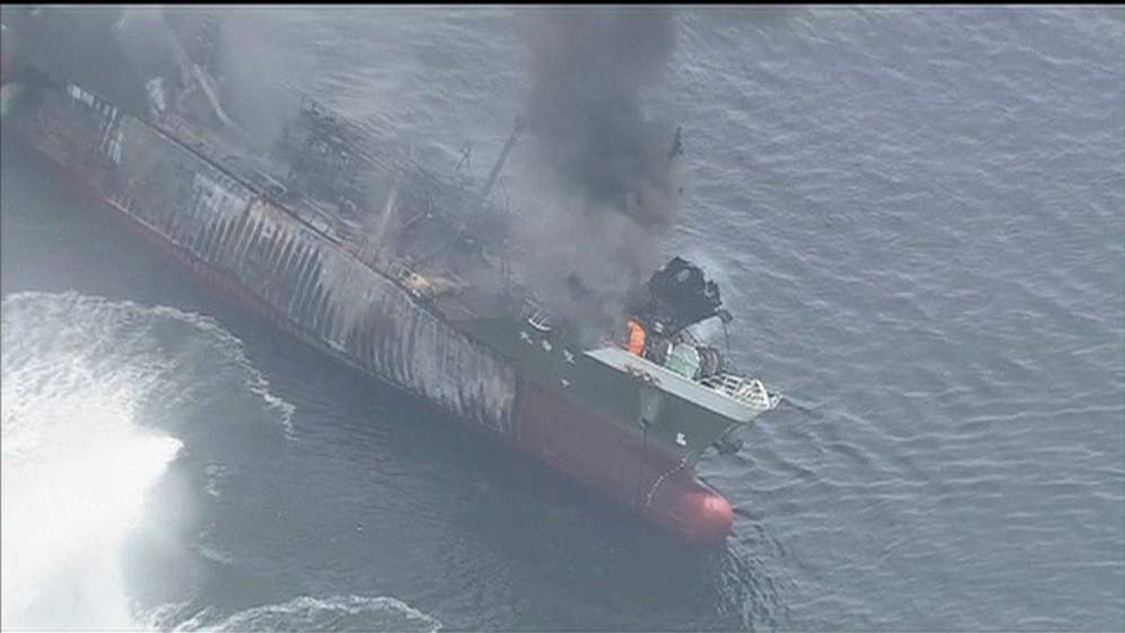 Explosion on Japanese tanker