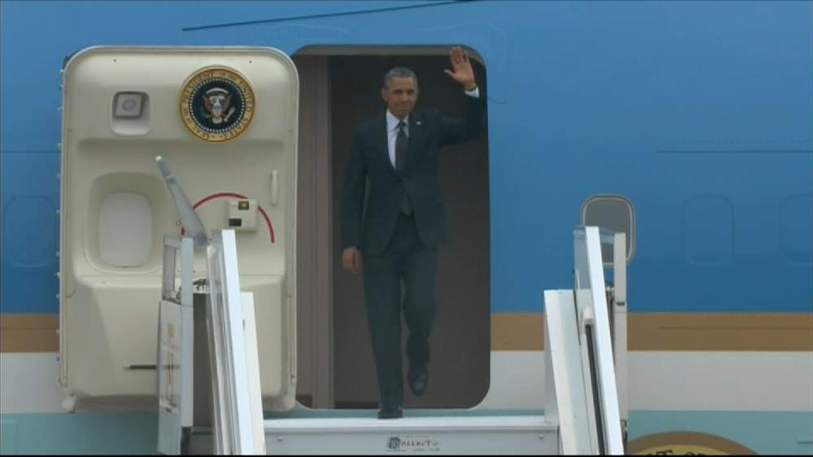 Obama Arrives In Poland