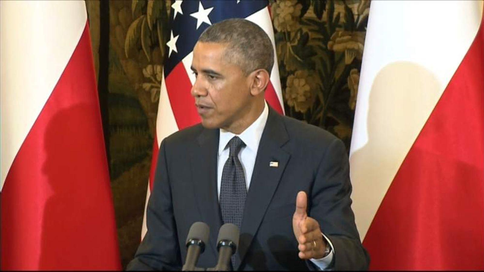 Obama Press Conference In Poland