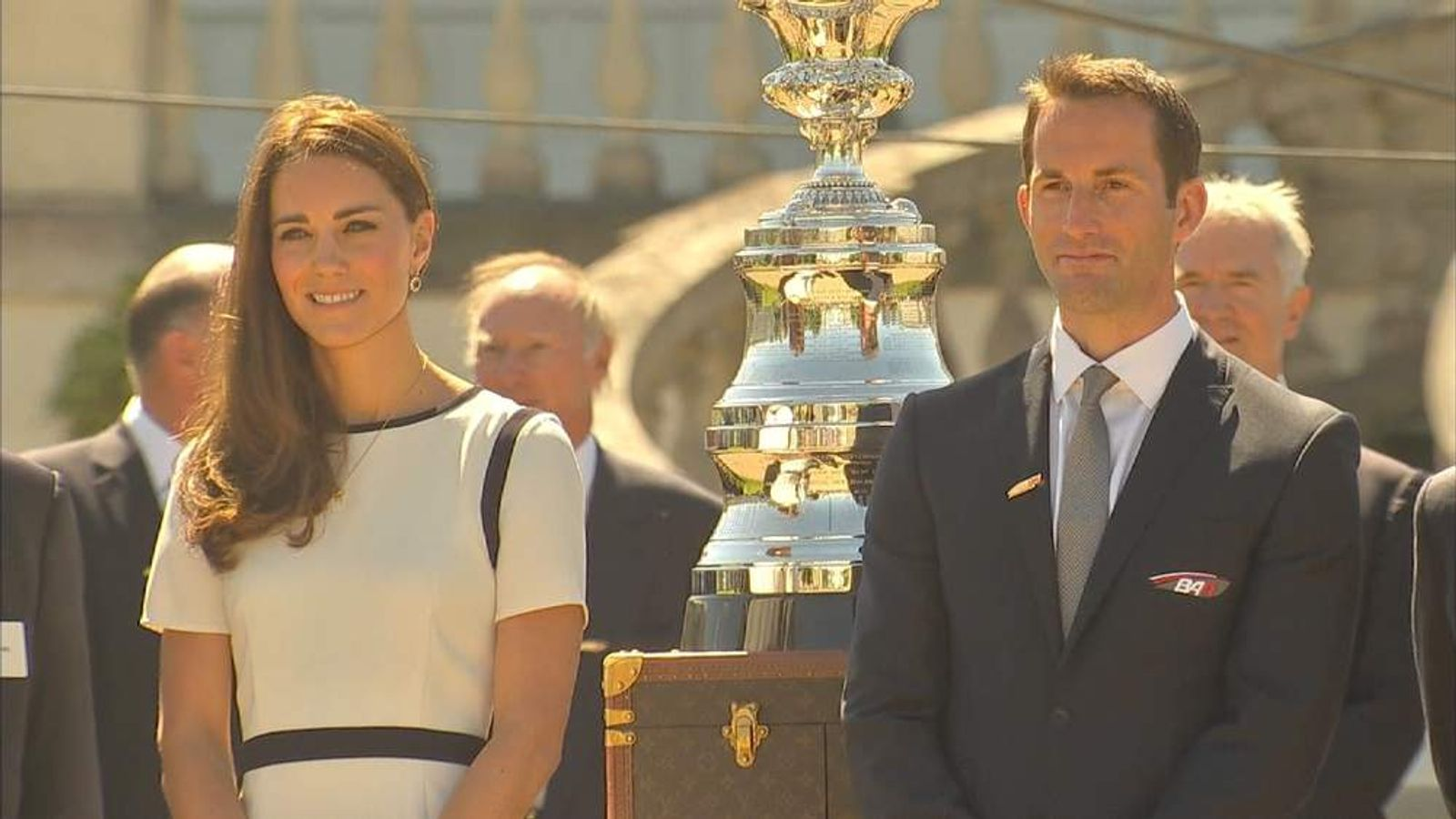 Duchess of Cambridge and Sir Ben Ainslie
