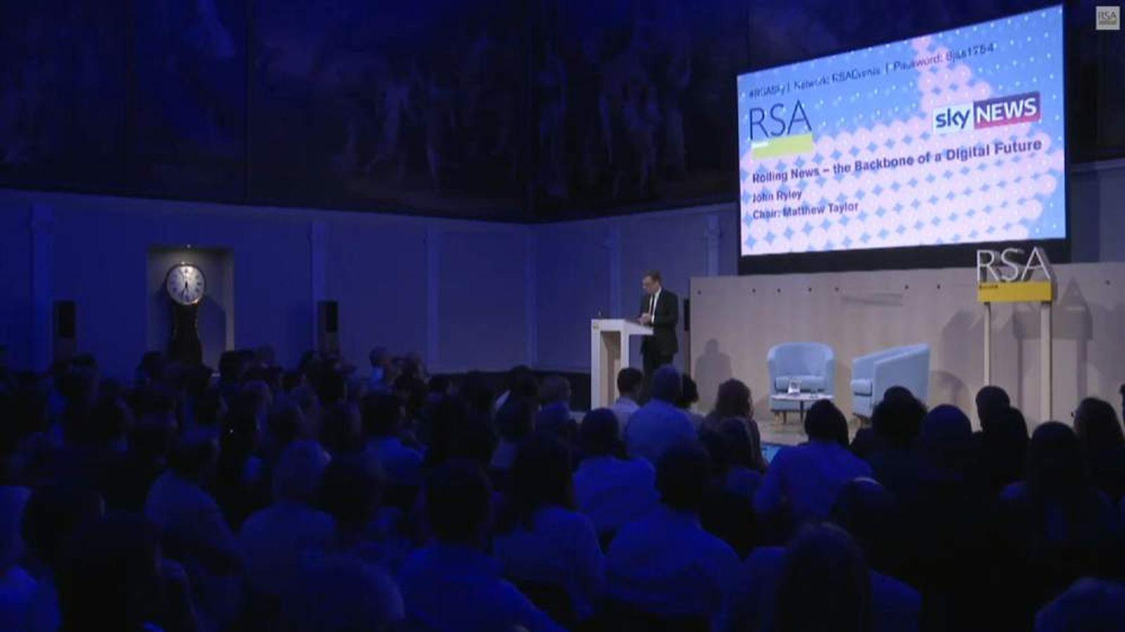 Sky News John Ryley speech