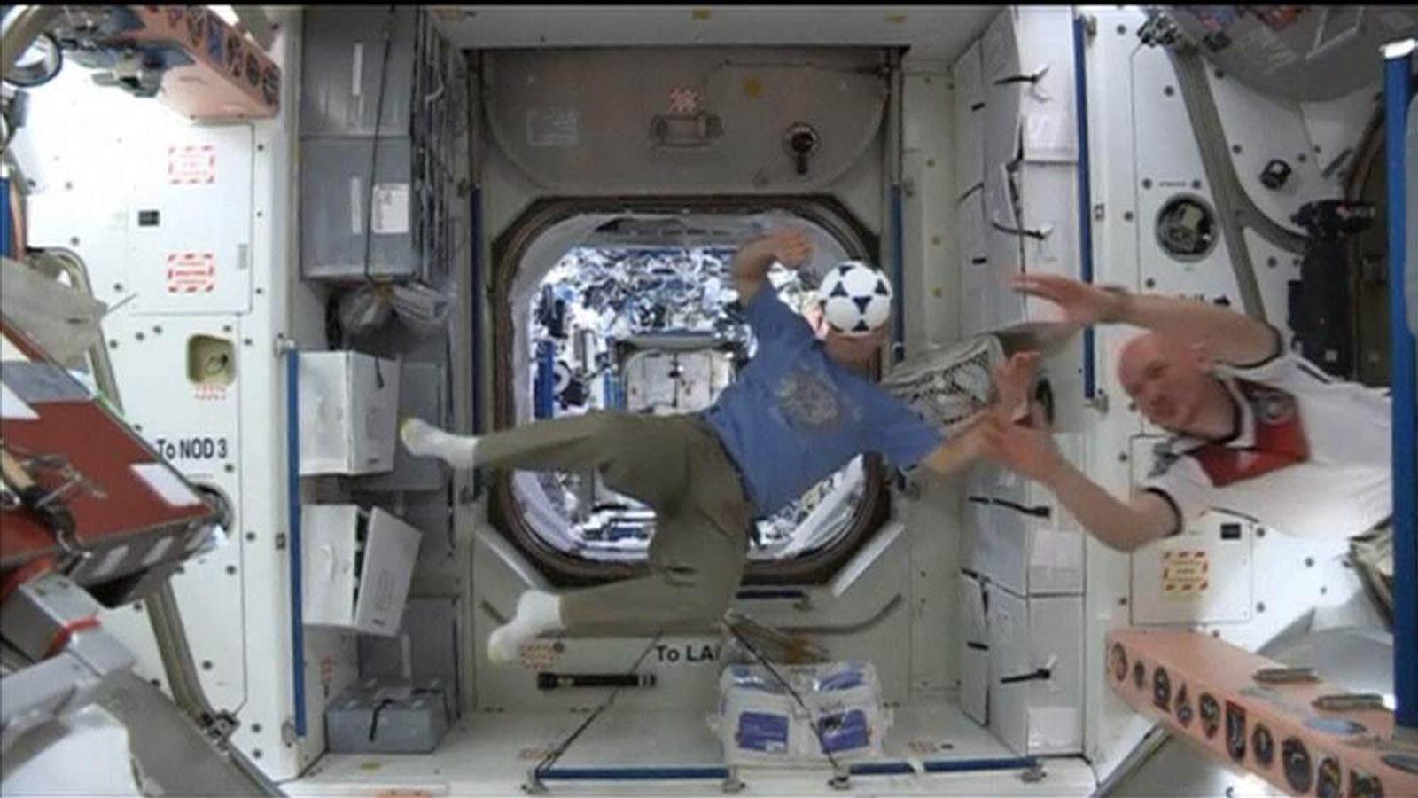 Astronauts on the International Space Station prepare for World Cup