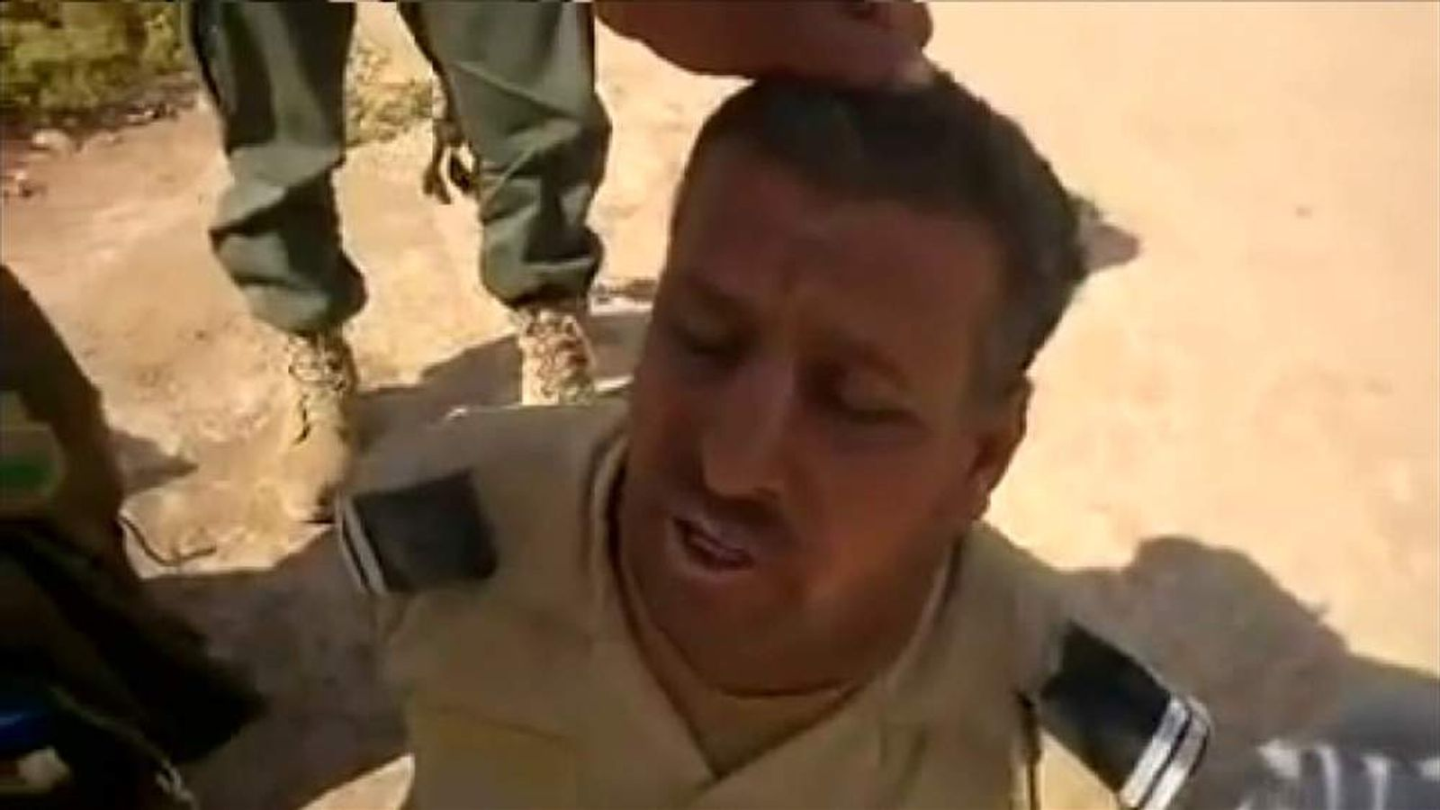 Isis video showing captured Iraqi military personnel