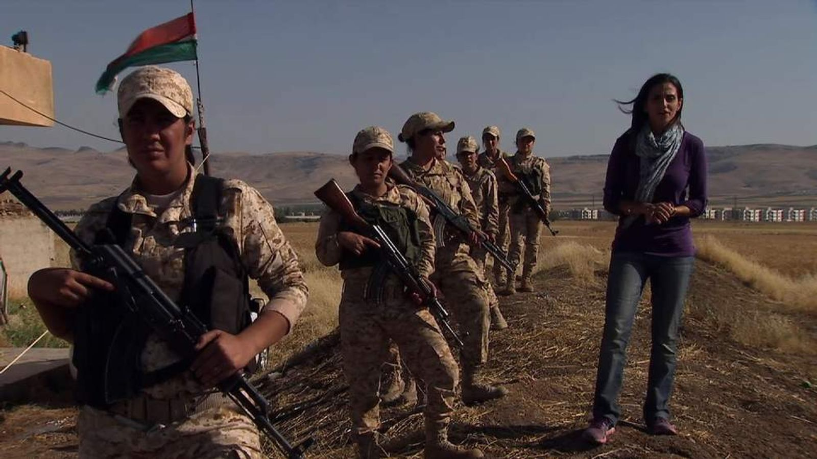 Female Peshmerga in Kurdistan northern Iraq