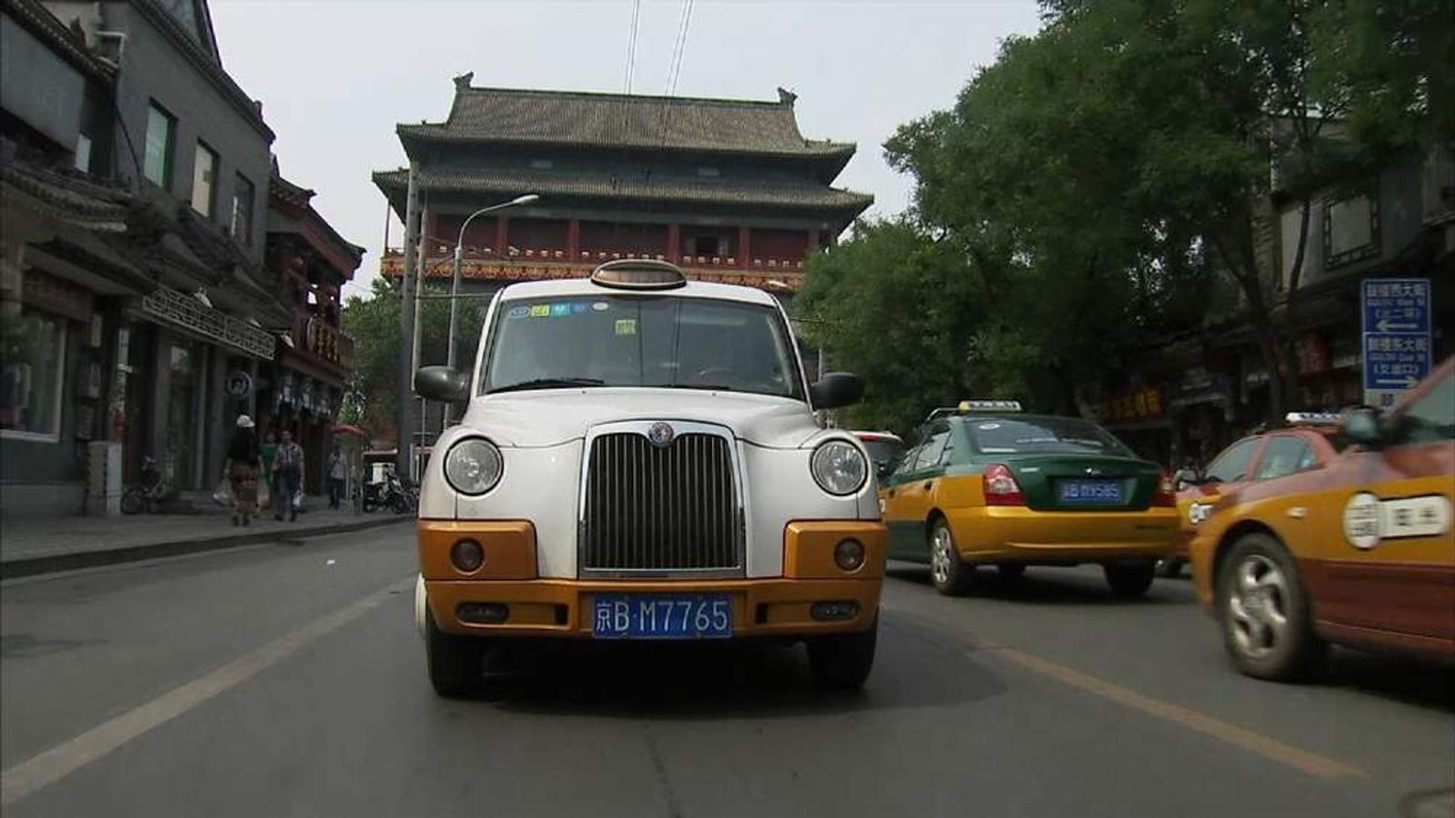 London cab in Beijing