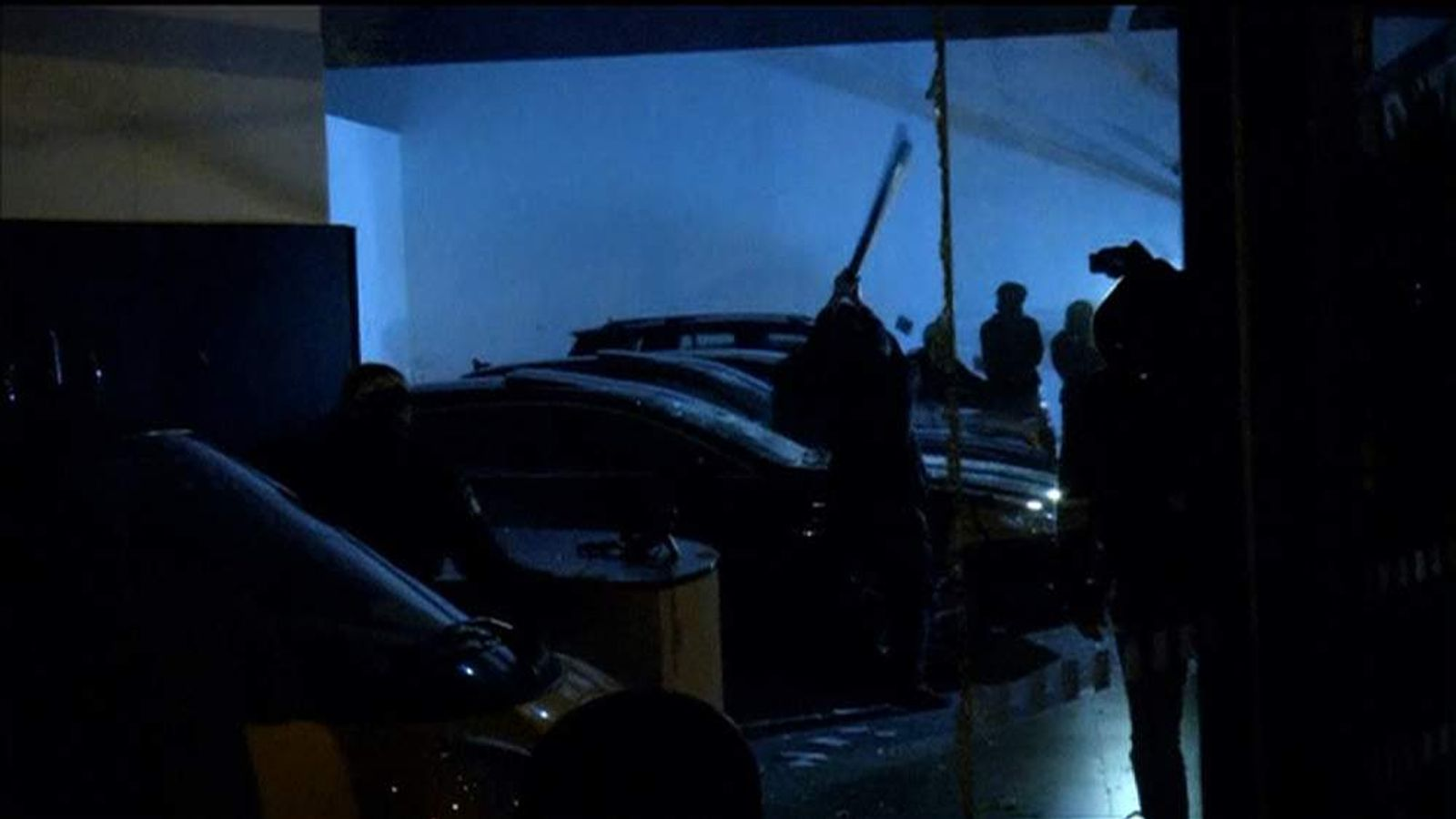 Protesters smash up luxury vehicles in a car dealership in Sao Paulo, Brazil