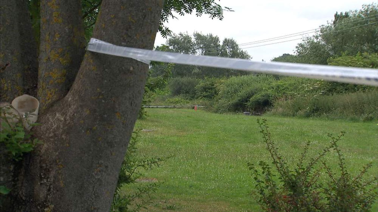 The scene of the stabbing of Nahid Almanea in Colchester, Essex.