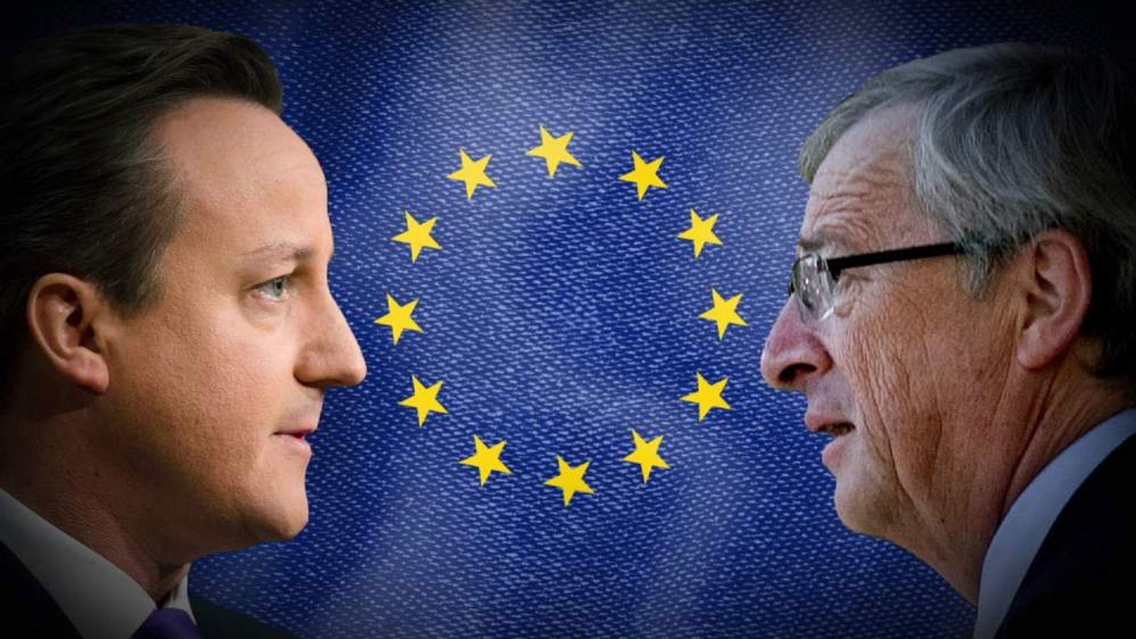 David Cameron and Jean-Claude Juncker