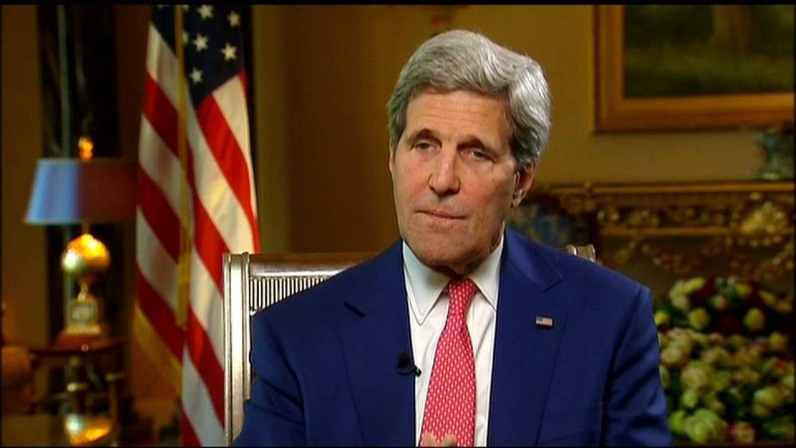 US Secretary of State John Kerry in Iraq