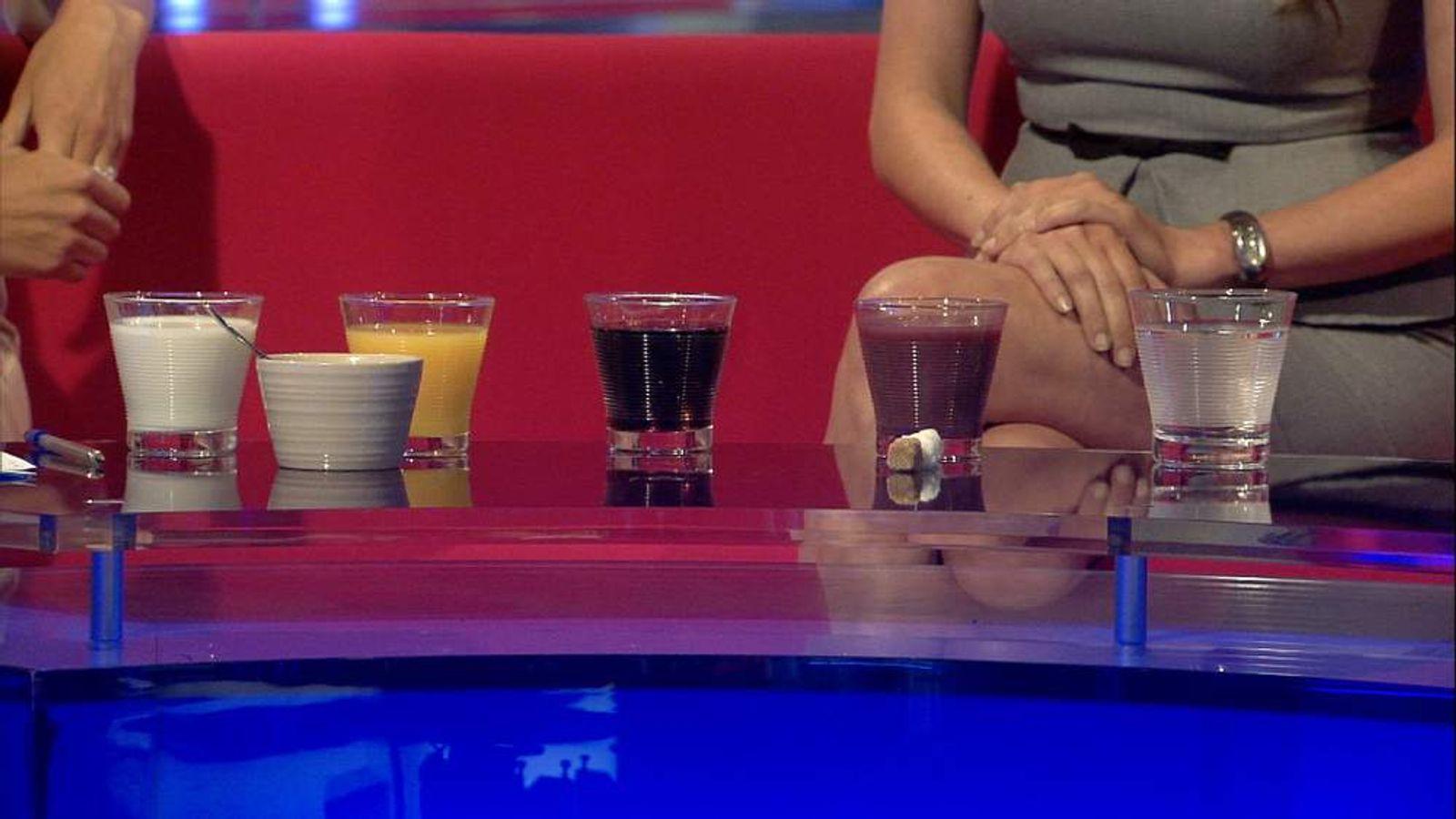 sugary drinks comparison