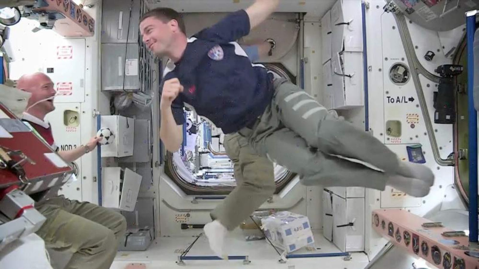 Astronauts on space station play football ahead of USA Germany World Cup game
