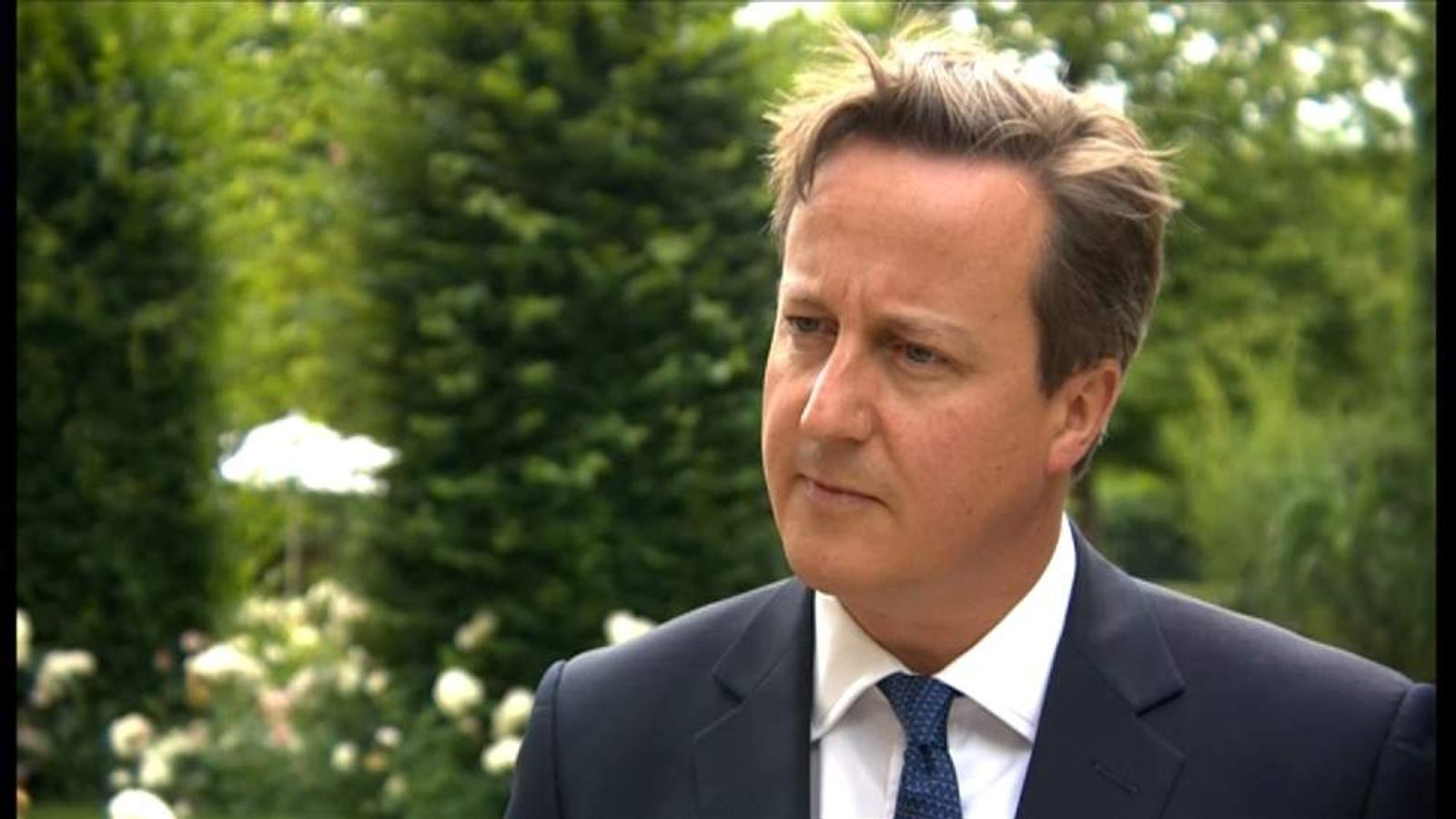 David Cameron talks about the EU on a trip to Ypres, Belgium