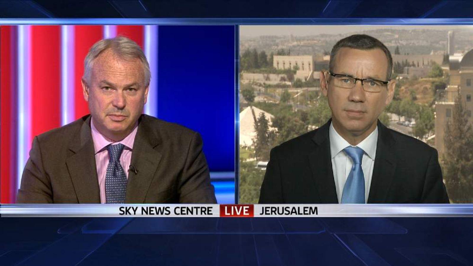 Sky's Tim Marshall speaks to Israeli government spokesman Mark Regev