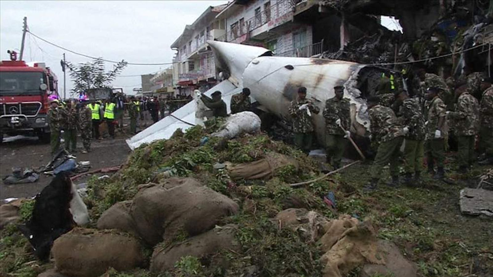 Scene of Nairobi, Kenya plane crash