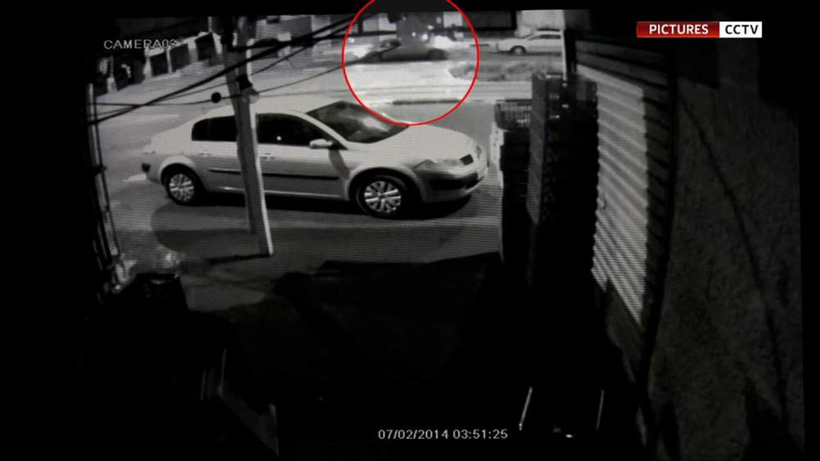 CCTV footage allegedly showing the kidnapping