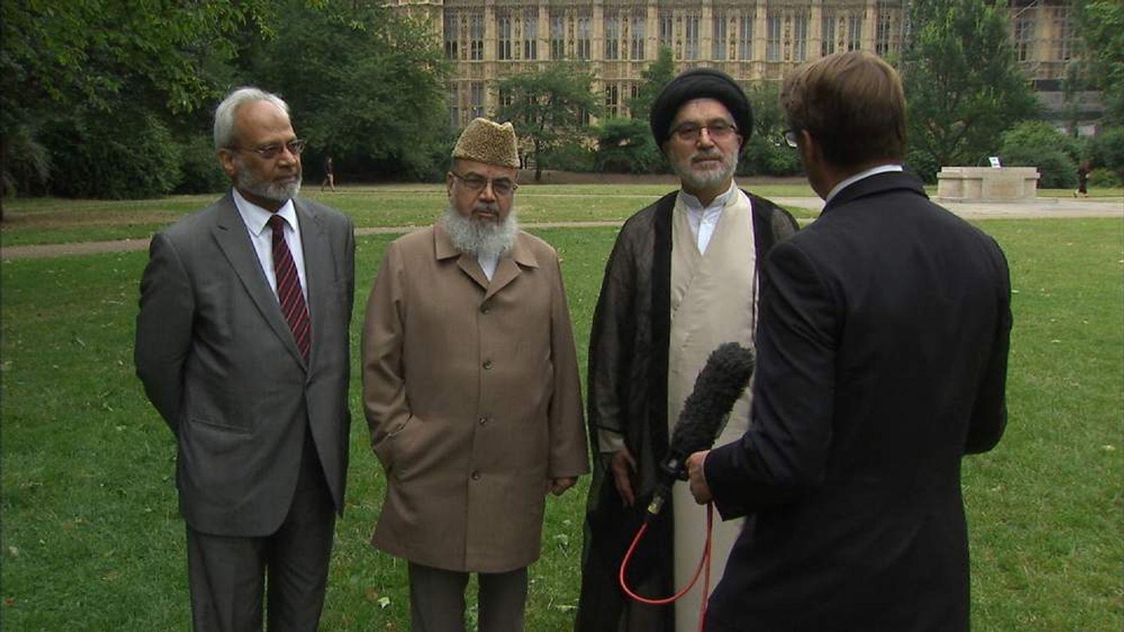 (L-R) Shuja Shafi, Maulana Shahid Raza and Sayed Fadhil Al Milani