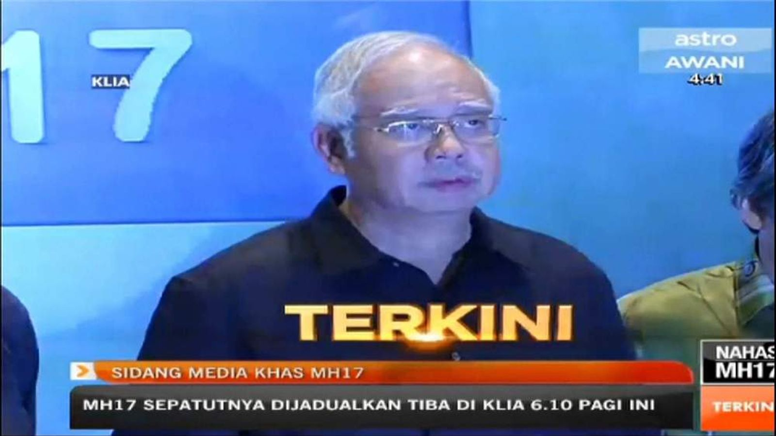 170714 PLANE CRASH malaysia airlines news conference screengrab