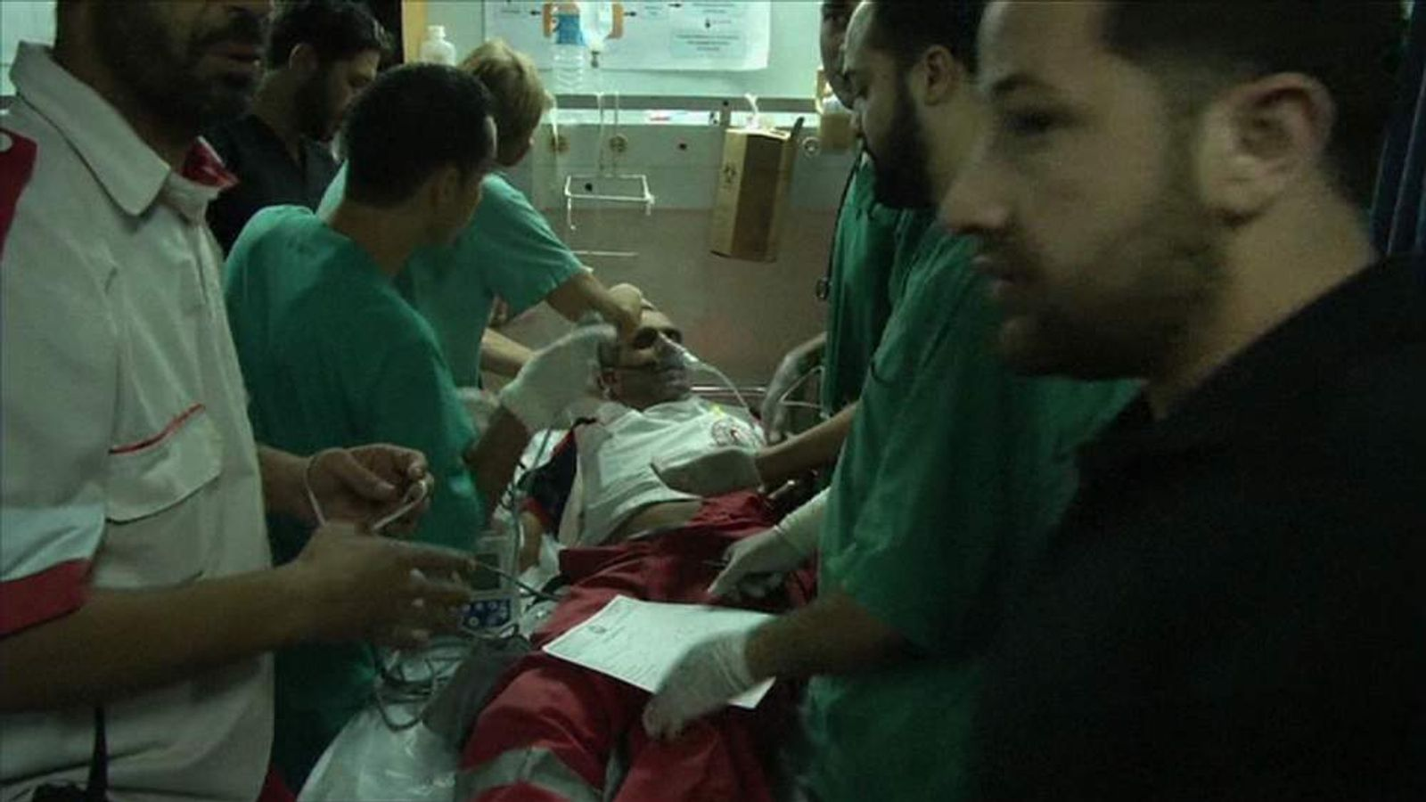 Wounded palestinian
