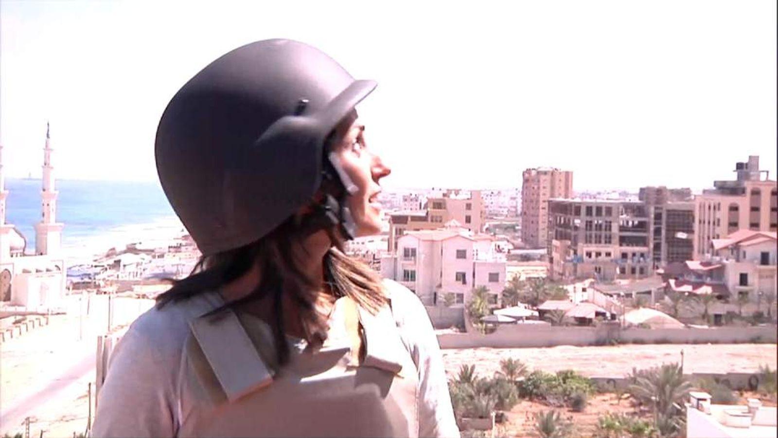 Sherine Tadros in Gaza.