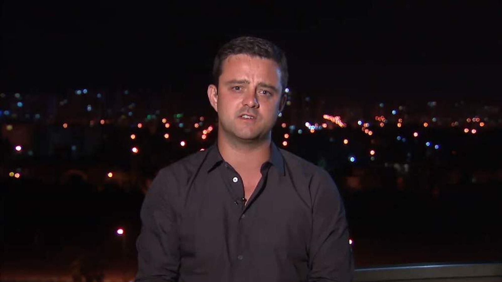 Sky's Tom Rayner reporting on Gaza