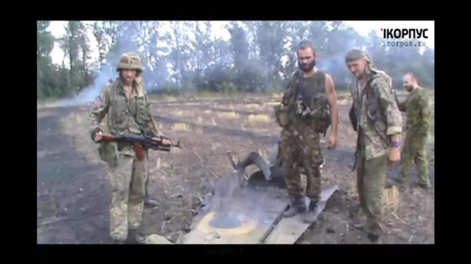 Unverified video of downed Ukrainian fighter jets