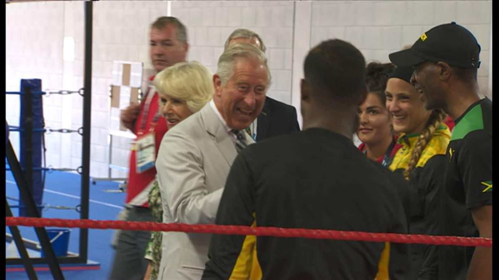 Prince Charles and the Duchess of Cornwall visit the Commonwealth Games