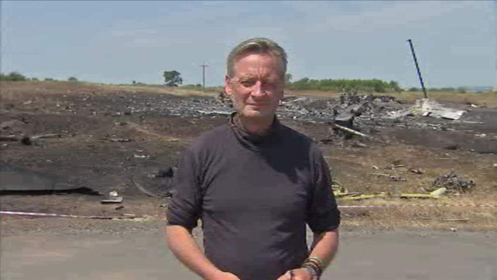 Stuart Ramsay at MH17 crash site