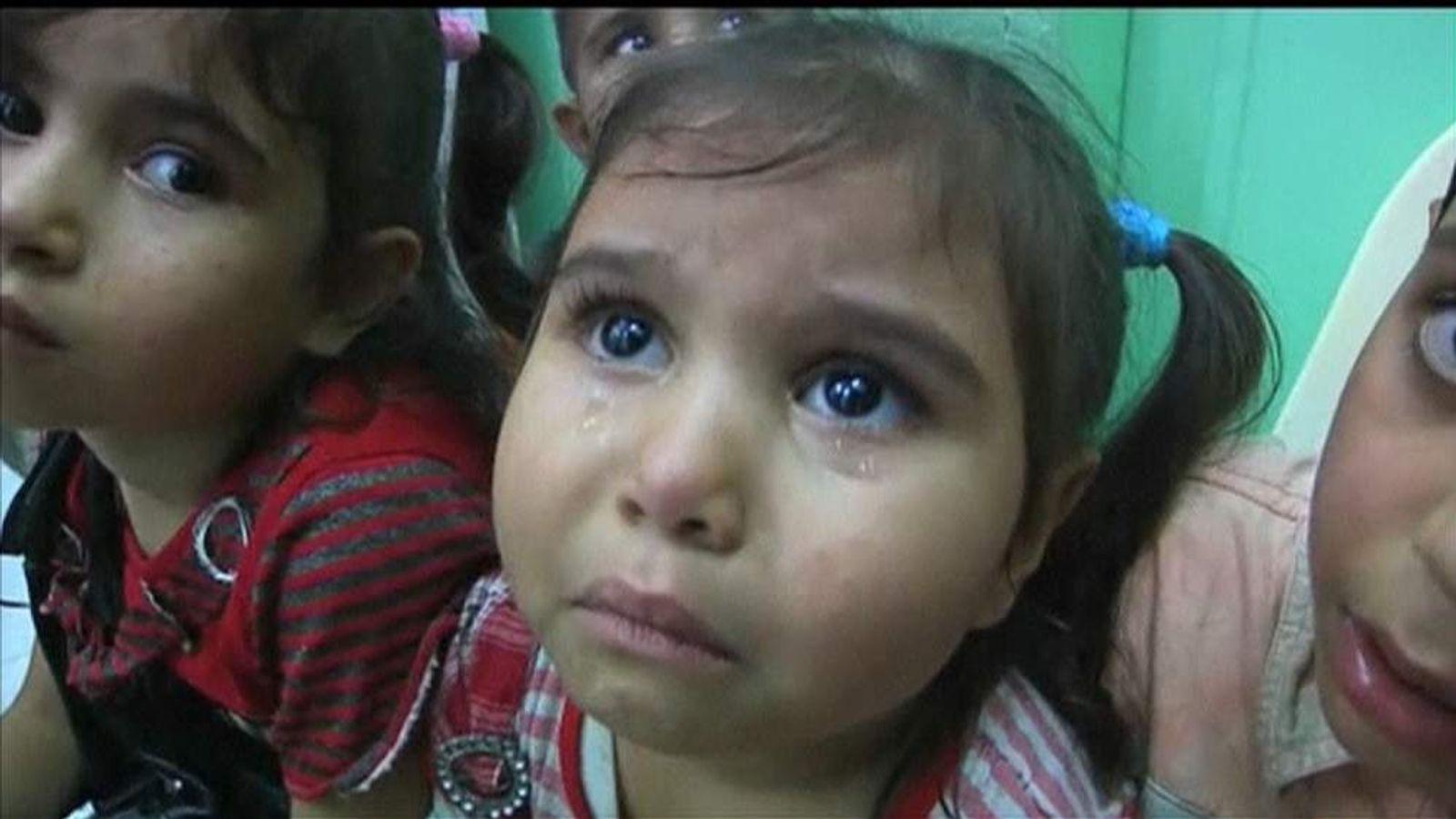Scores of children were injured on the attack on a UN-run school in Gaza