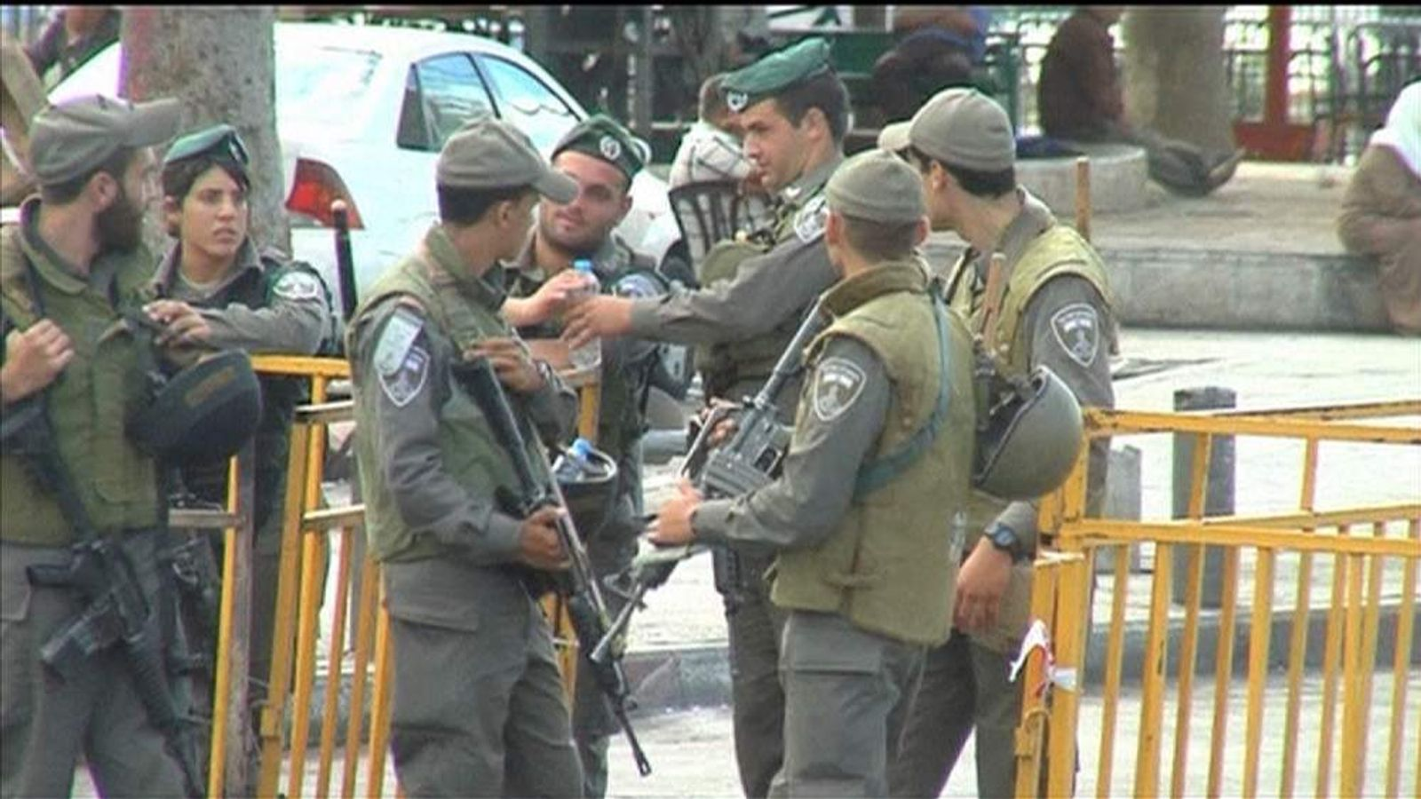 Israeli soldiers near the Temple Mount in Jerusalem