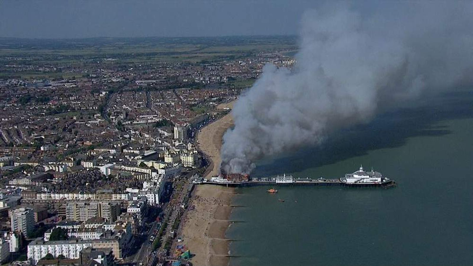 Eastbourne Pier damaged by fire