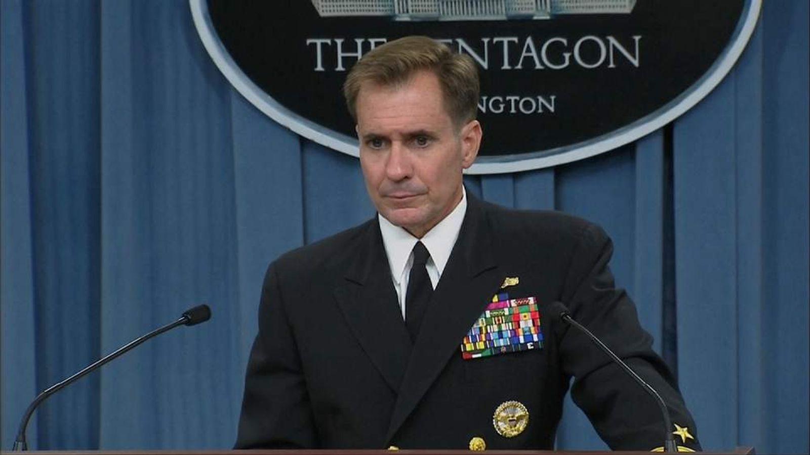 Pentagon Press Secretary Rear Admiral John Kirby