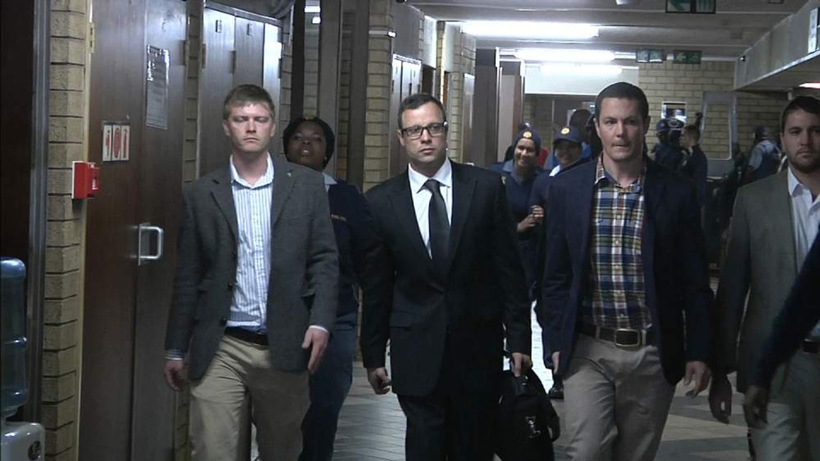 Oscar Pistorius arrives in court