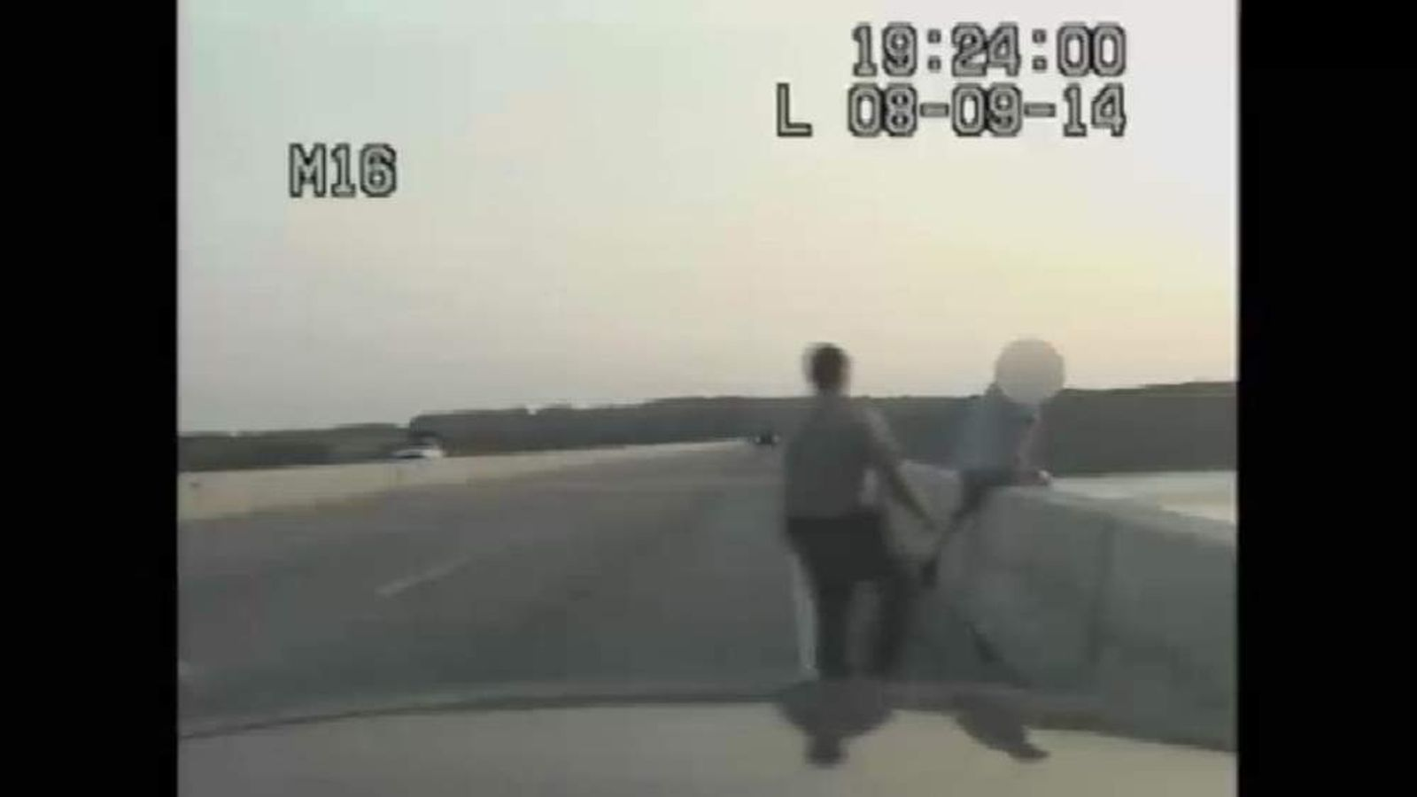 A maryland State trooper saves a man attempting to commit suicide