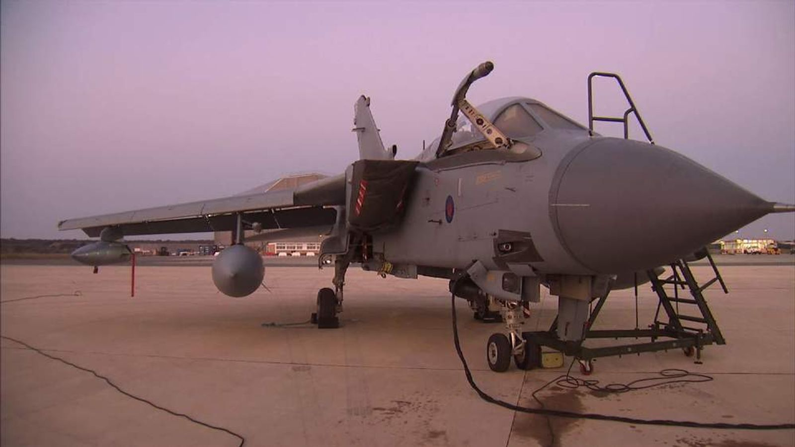 A Tornado jet at RAF Akrotiri in Cyprus