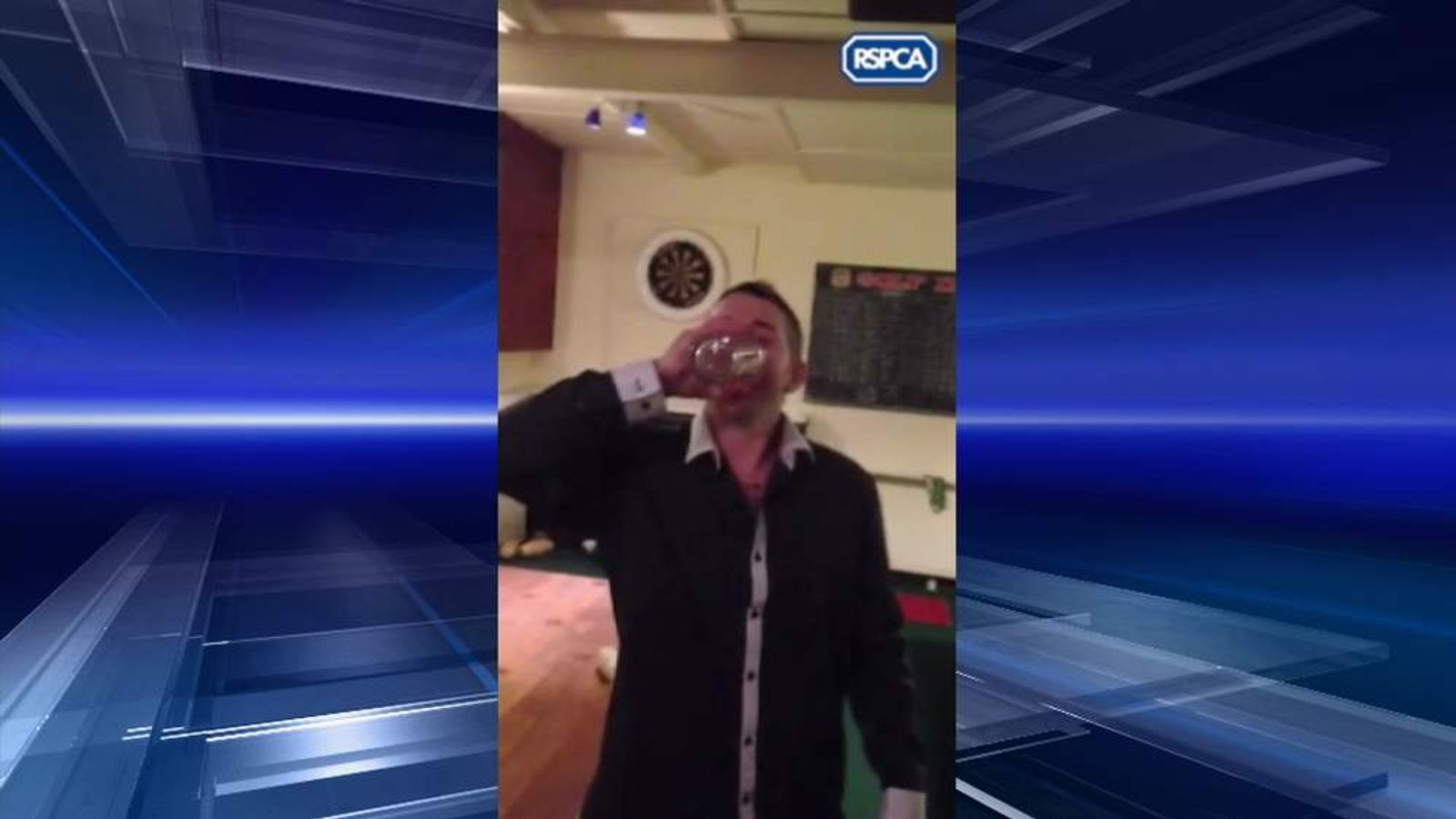Neknominate binman Paul Wooding downs cocktail with four minnows