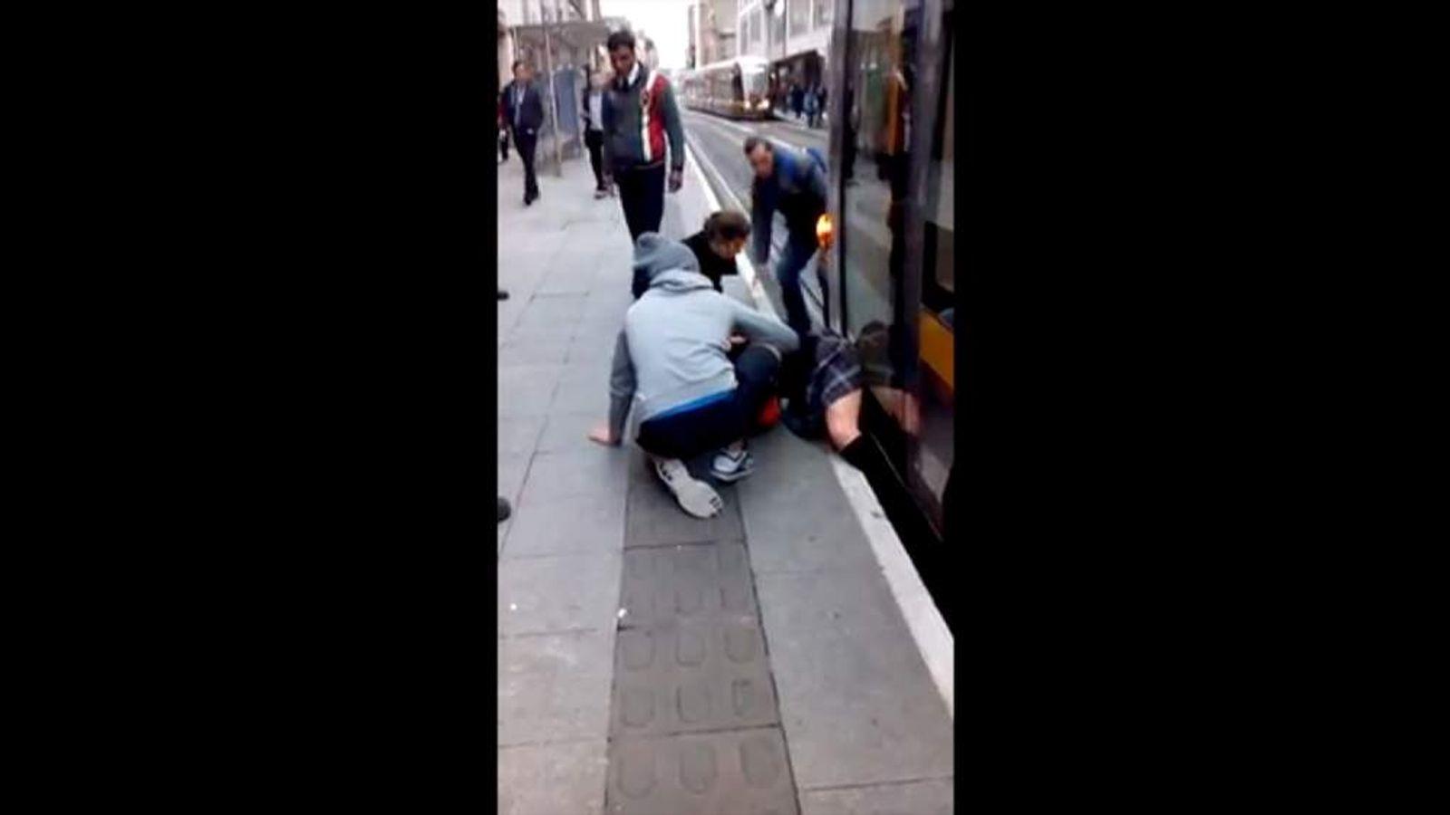 Commuters Rescue Girl Trapped Under Tram In Dublin