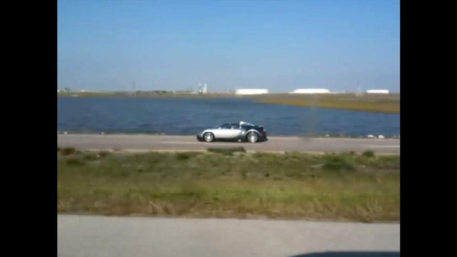 Bugatti deliberately driven into Lake near Galveston Texas
