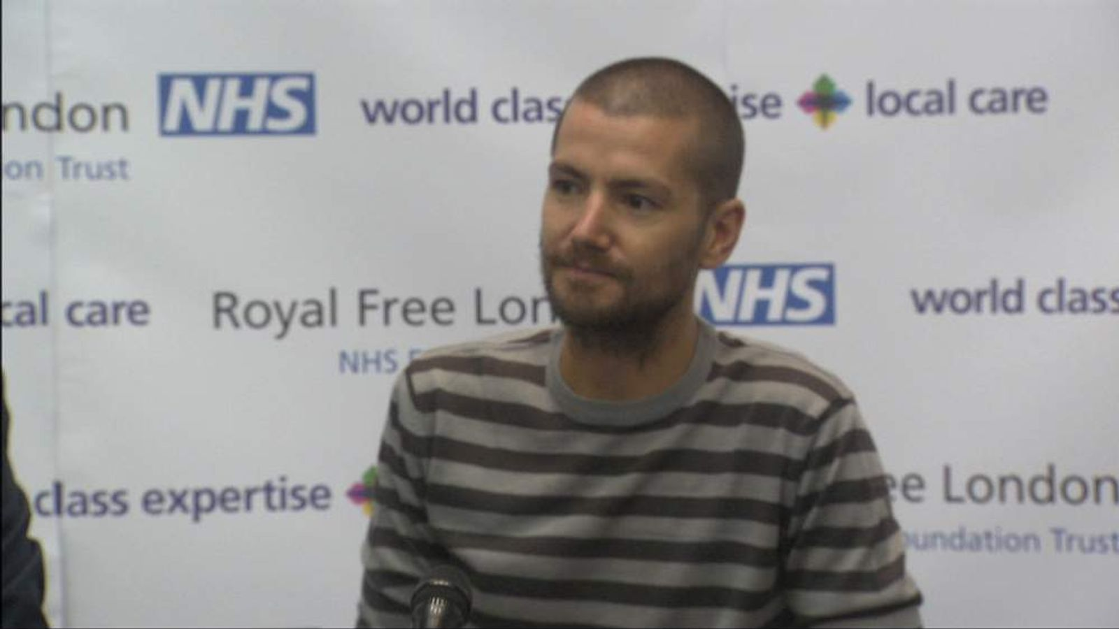 William Pooley speaks about Ebola