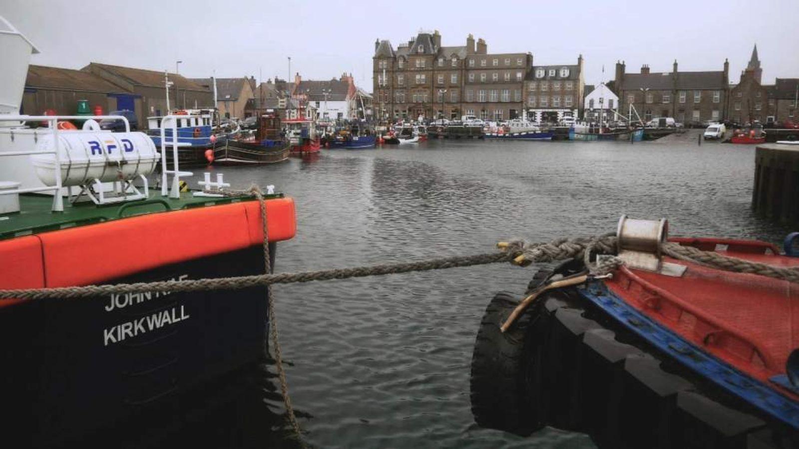 Fishermen on the Orkney Islands