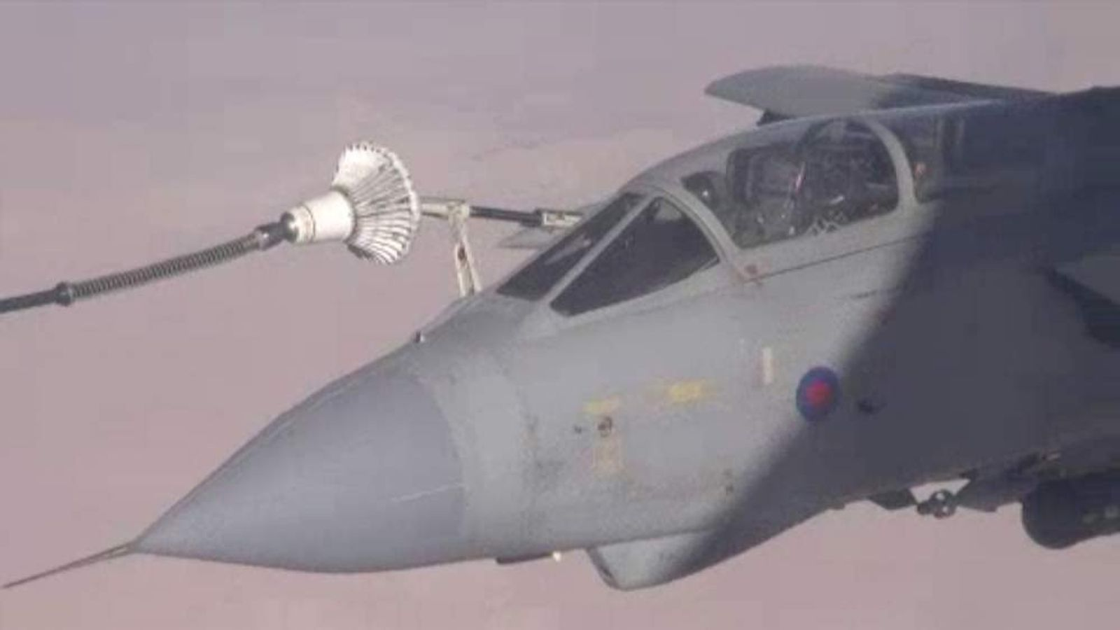 RAF Tornado GR4 refuelled during first mission of Operation Shader in Iraq