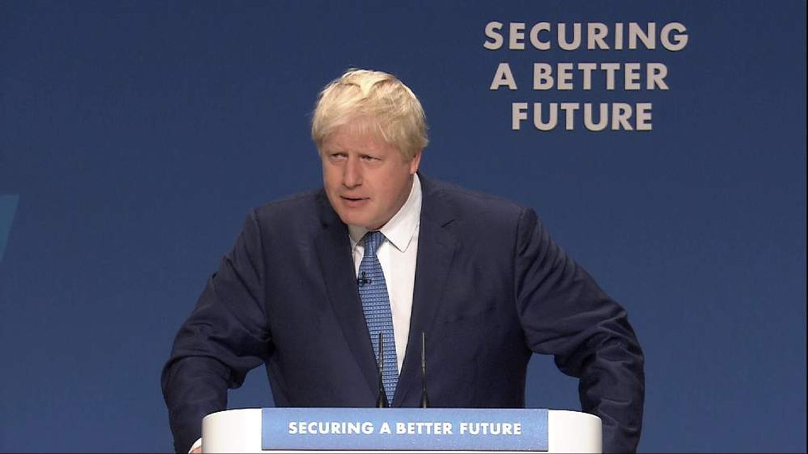 Boris Johnson speaks at the Conservative Party conference