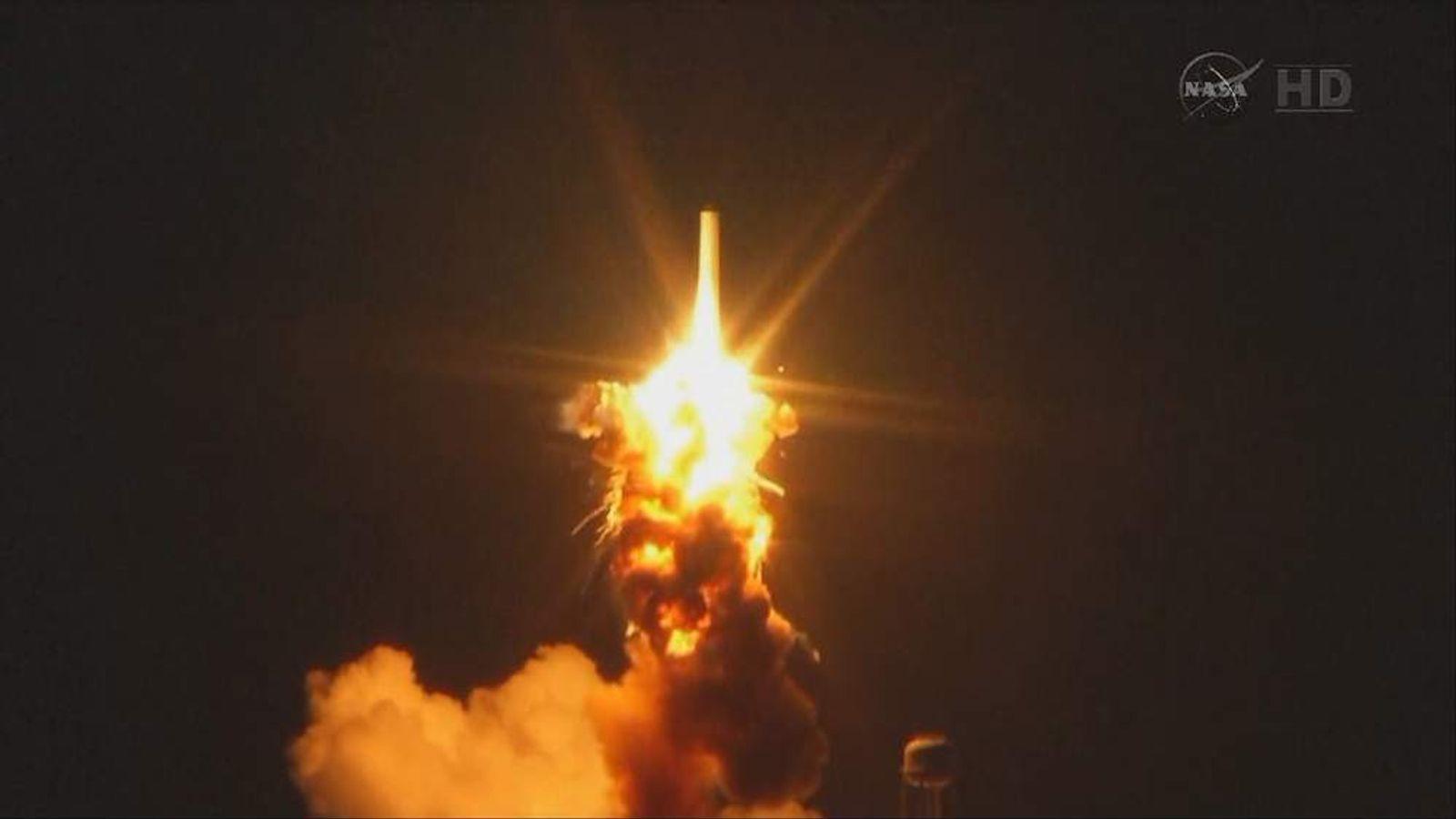 NASA images show rocket launch blast