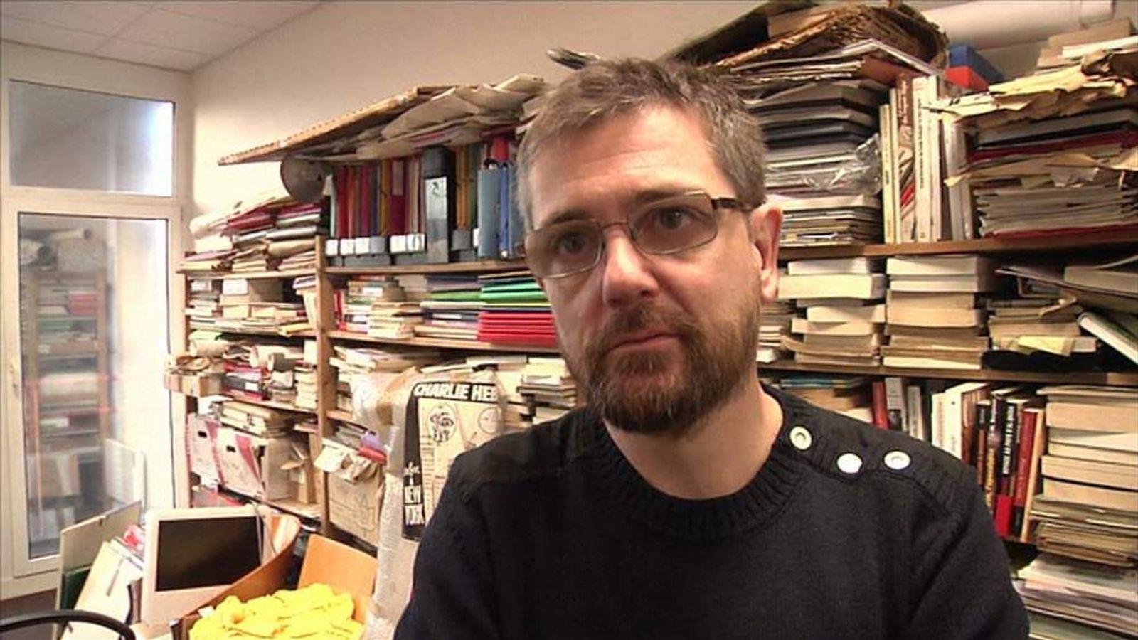 Charlie Hebdo editor Stephane Charbonnier in January 2013