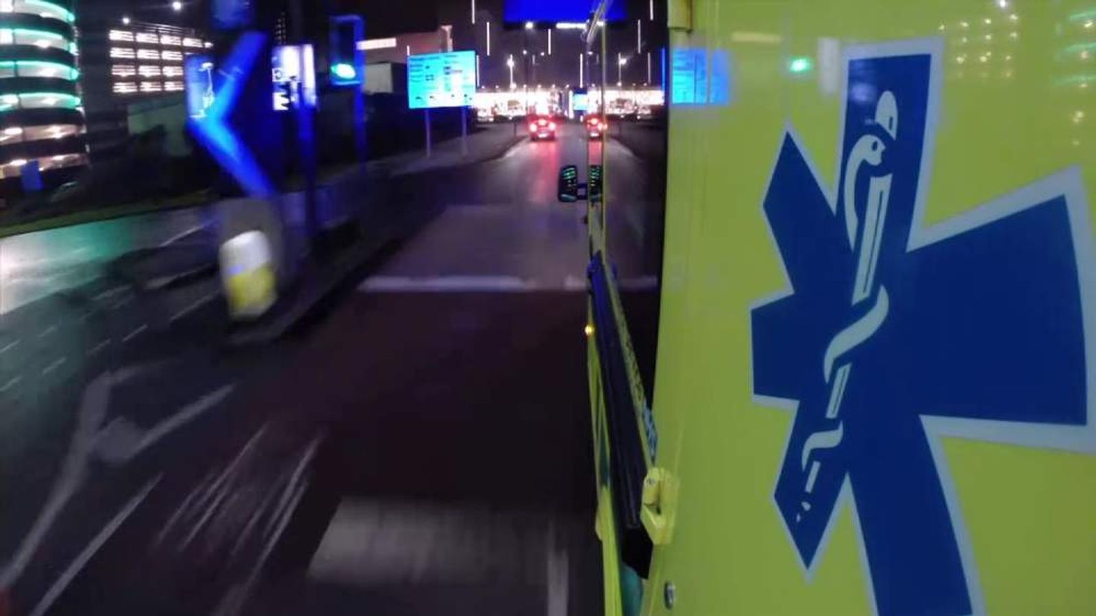 Sky's Thomas Moore spent the evening with paramedics