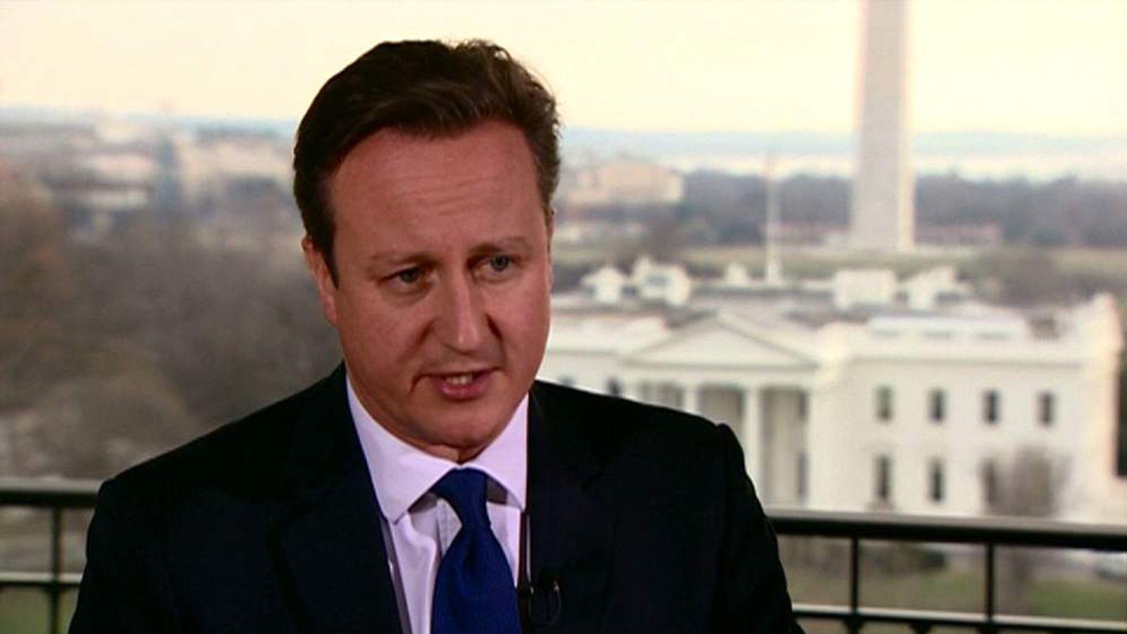 David Cameron in Washington DC January 2015