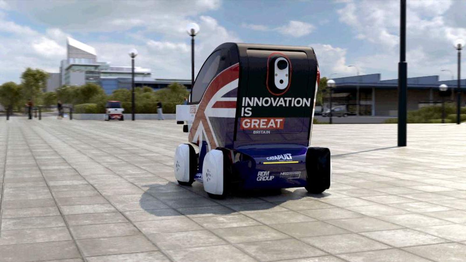 Driverless cars screen grab GB car